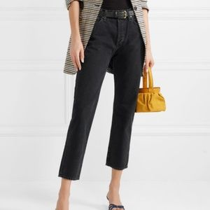 Goldsign  THE LOW-SLUNG JEANS in Marled Black
